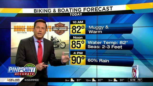 Biking & Boating forecast: Nice early, wet later