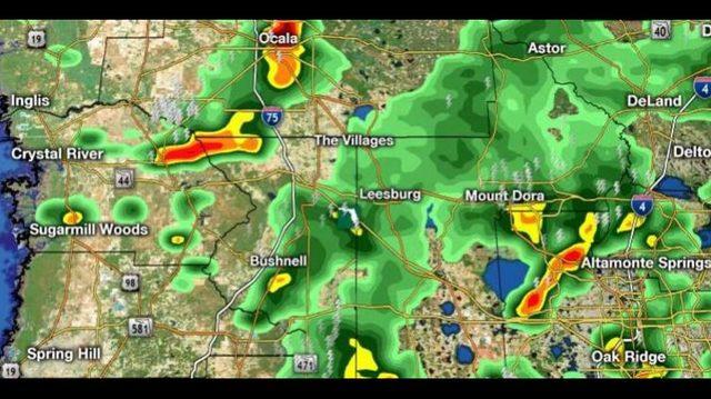 LIVE RADAR: Strong thunderstorm moving through Central Florida