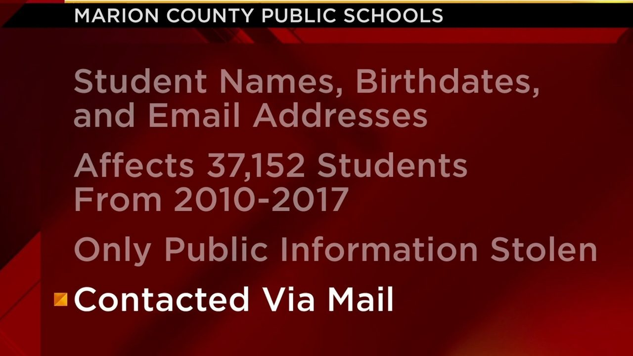 Marion County students' email addresses, birth dates and names