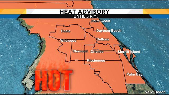 Heat index 105-110: Blazing heat dominates the weekend