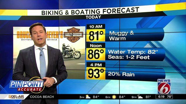 Biking & Boating forecast: Less rain on coast than inland