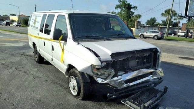 11 students, driver taken to hospital in church school van crash