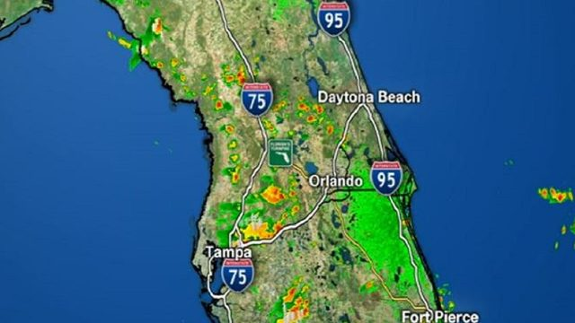 Afternoon storms begin in Central Florida