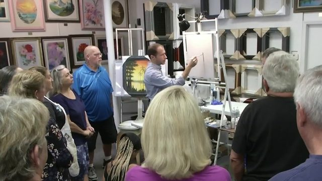 Learn how to paint like Bob Ross at his workshop in New Smyrna