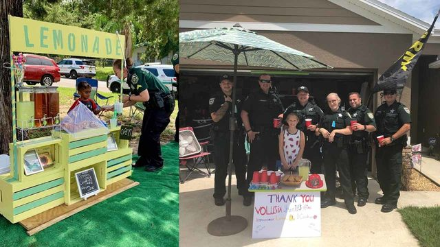 Bittersweet: Deputies say farewell to summer with lemonade stand stops