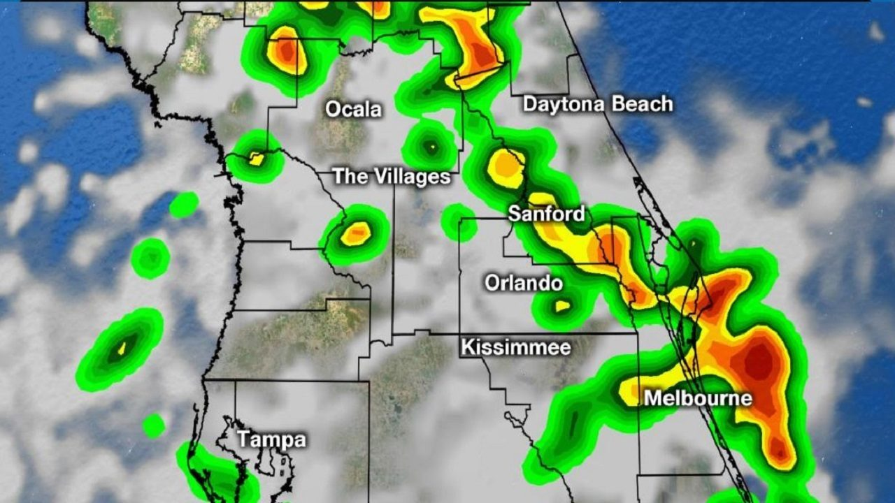 Storms rumble across Central Florida