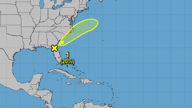 National Hurricane Center monitoring Atlantic disturbance near North Florida