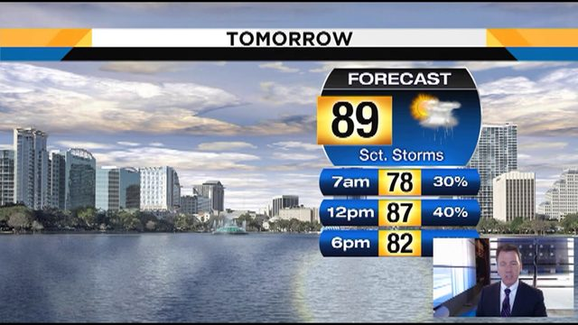 Temps could hit 89 on Saturday in Central Florida