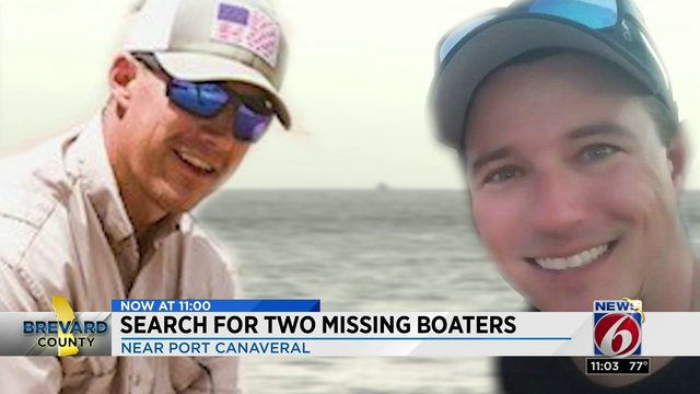 The search continues for two missing boaters in Brevard County.
