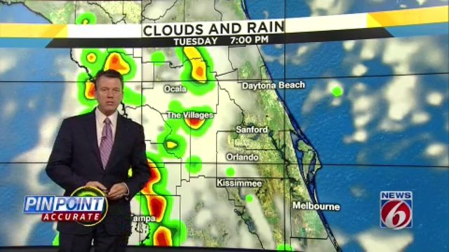 Storms heat back up in Central Florida on Tuesday