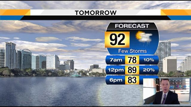 Temps could hit 92 in Central Florida on Tuesday