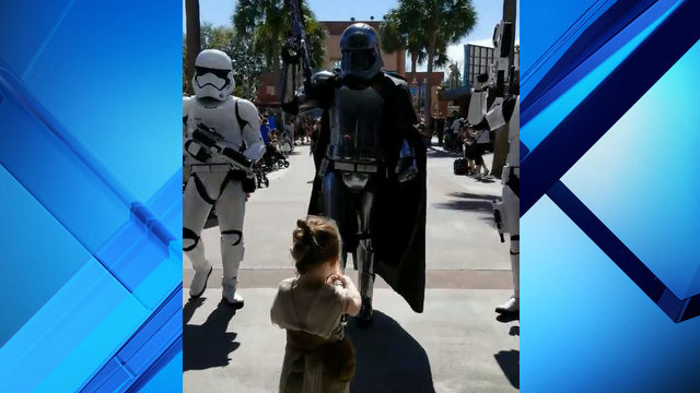 Must watch: Adorable 4-year-old girl dressed as Rey takes on dark side at Disney