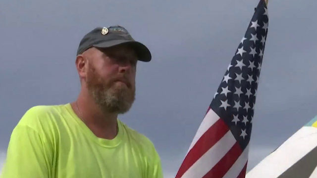 Veteran walks 3,000 miles to Disney to raise awareness to PTSD and suicide