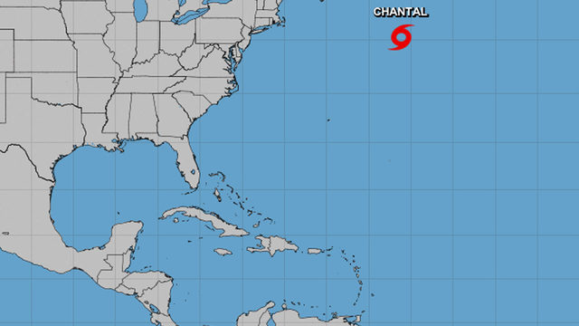 National Hurricane Center issues advisory on Tropical Storm Chantal over…