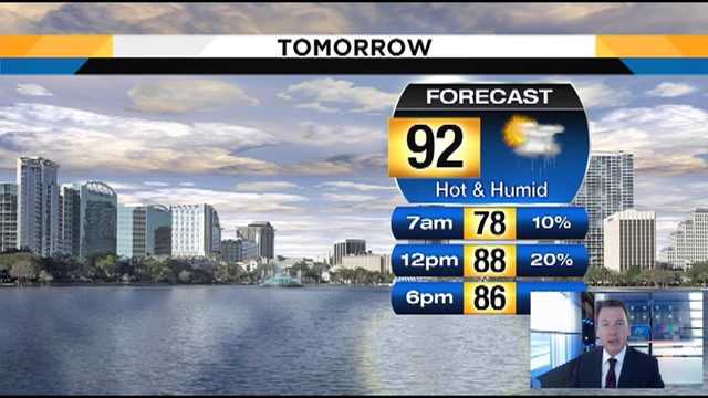 Temps could hit 92 on Wednesday in Central Florida