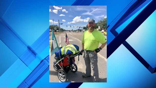 This veteran's inspiration behind his trek across the nation
