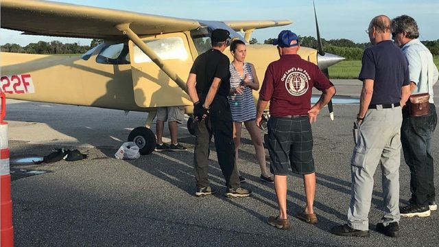 Wife joins search flight to look for boaters missing at sea off Florida