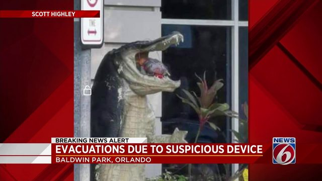 Suspicious device found in mouth of gator statue outside of Gator's…