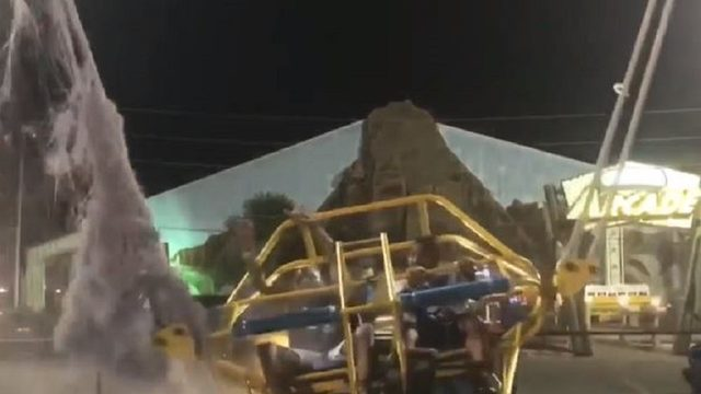 SCARE: Bungee cord shreds on slingshot ride at Florida park