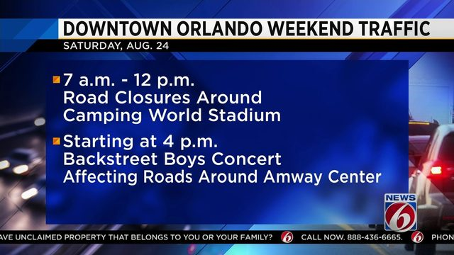 Roads to close this weekend in downtown Orlando