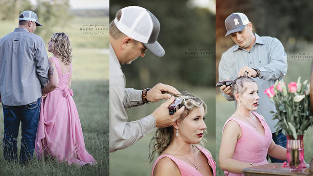 Couple's breast cancer photo shoot goes viral for its powerful message
