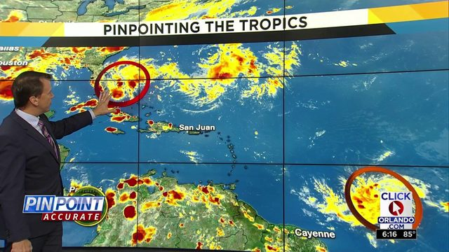 Systems could develop in the tropics