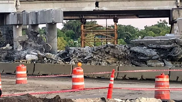 Construction accident closes I-4 lane in Orlando