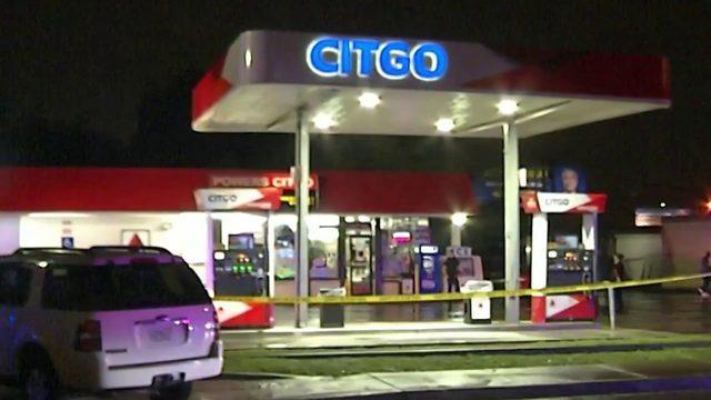 Gas station employee shot
