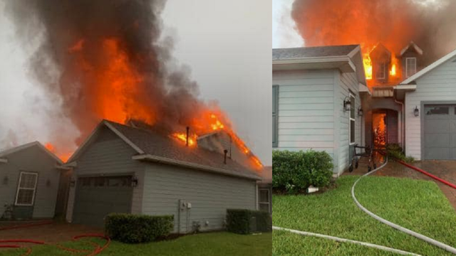 Lightning sparks house fire in Marion County
