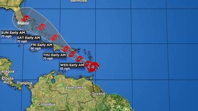 Florida remains in direct path of Tropical Storm Dorian