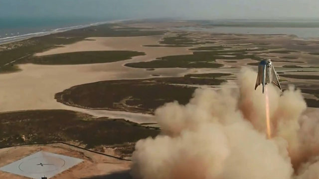 Rewatch SpaceX's spaceship prototype Starhopper fly, land in Texas