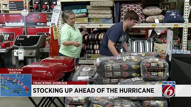 Stores packed as Floridians buy supplies for Hurricane Dorian