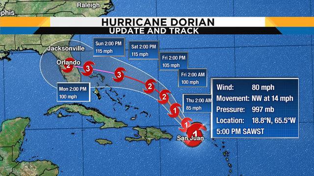 UPDATES: Track, computer models, satellite for Dorian