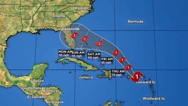 Dorian becomes hurricane, forecast to hit Central Florida as Category 3…