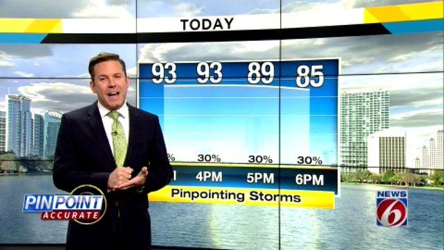 Heat rises, rain chances drop ahead of Dorian