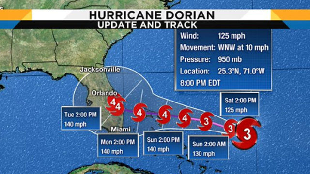 Hurricane Dorian becomes Cat 4, Central Florida remains in storm's path