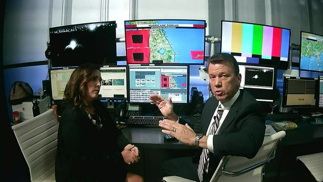 News 6 weather team provides 10:15 p.m. Saturday Dorian update
