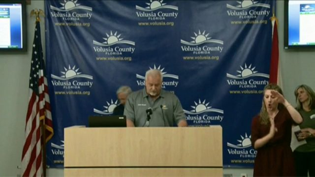 WATCH LIVE: Officials in Volusia County provide Hurricane Dorian update