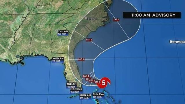 WATCH LIVE UPDATES: Dorian continues to strengthen, with maximum…