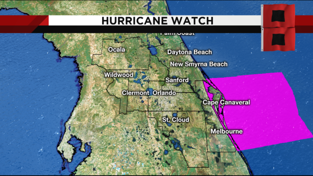 Hurricane watch issued for waters off Brevard County ahead of Dorian