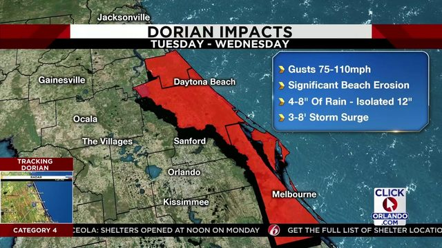 Candace Campos explains the county-by-county Hurricane Dorian impacts
