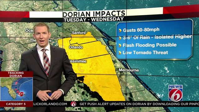 How Dorian will impact Central Florida counties