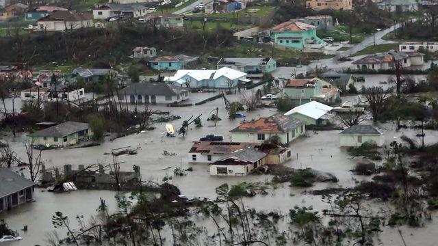 Aerial views of Hurricane Dorian shows absolute destruction in Bahamas