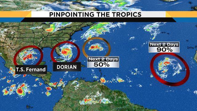 Who's next? Hurricane Dorian has company as tropics heat up