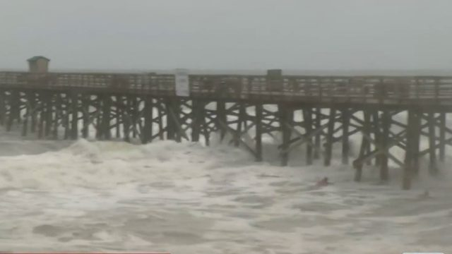 Hurricane Dorian's rain and wind hit coastal areas