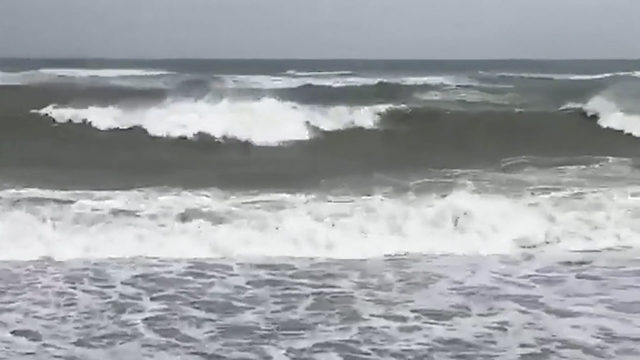 Rough waves tear up Vero Beach
