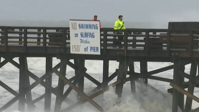 Effects of Hurricane Dorian roll out of Flagler Beach