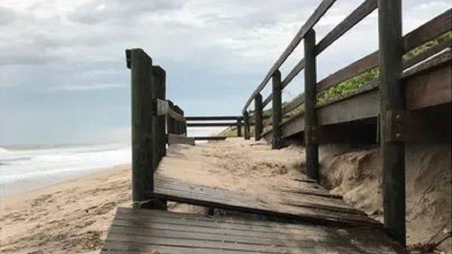 Dorian erodes an estimated 'several million dollars of sand' in Brevard