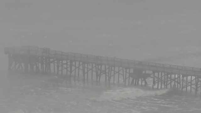 Hurricane Dorian damages Daytona Beach pier