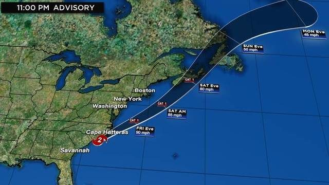 WATCH LIVE UPDATES: Track, computer models, more for Hurricane Dorian